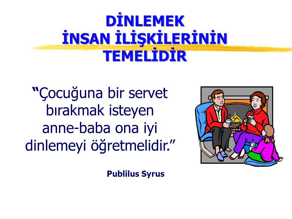 DİNLEMEK İNSAN İLİŞKİLERİNİN TEMELİDİR Publilus Syrus