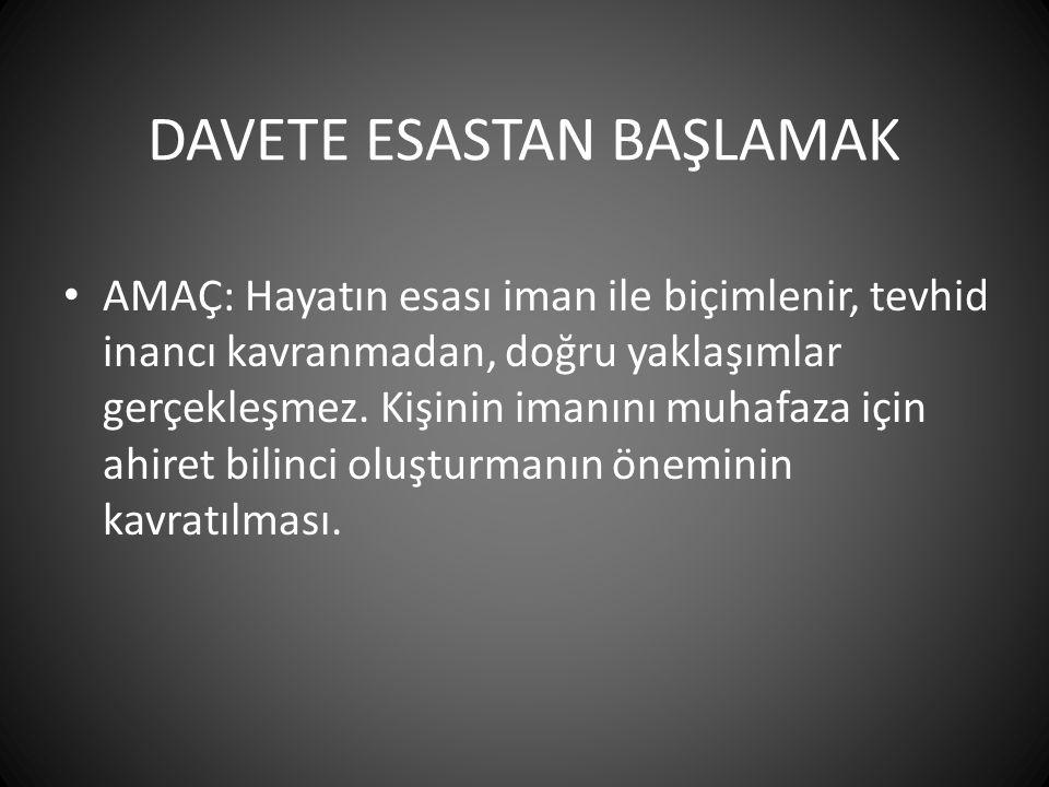 DAVETE ESASTAN BAŞLAMAK
