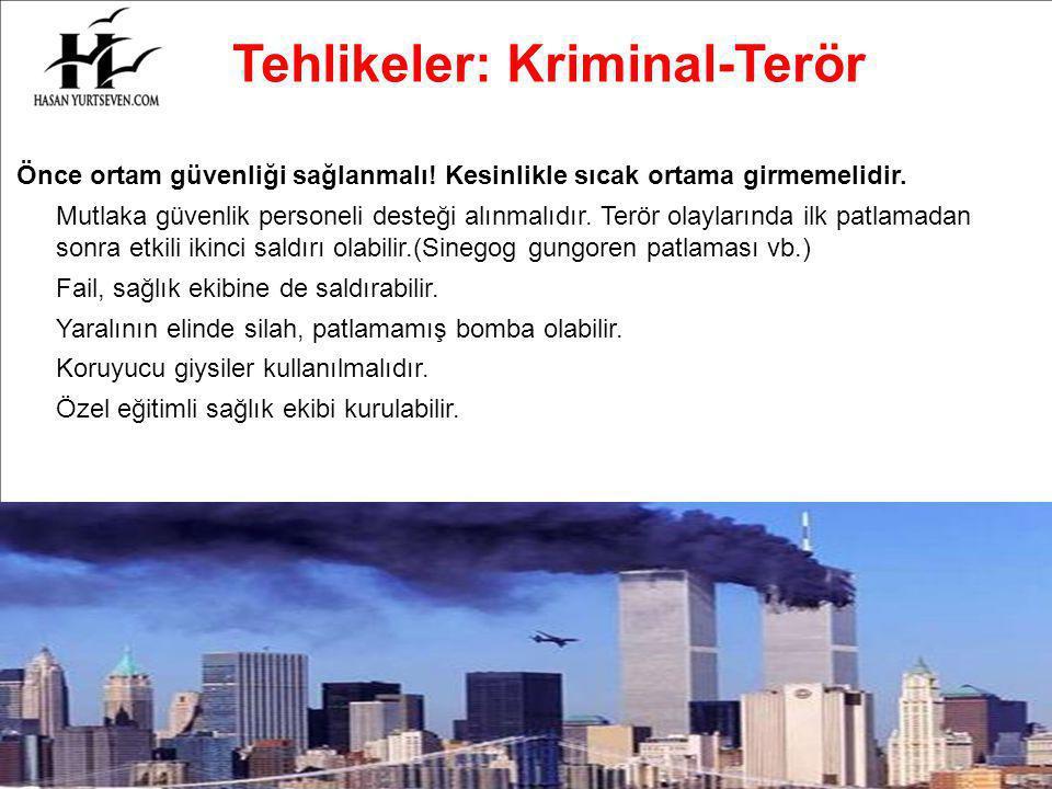 Tehlikeler: Kriminal-Terör