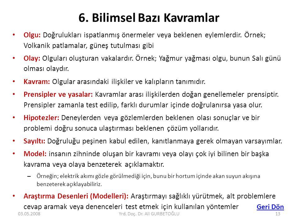 6. Bilimsel Bazı Kavramlar
