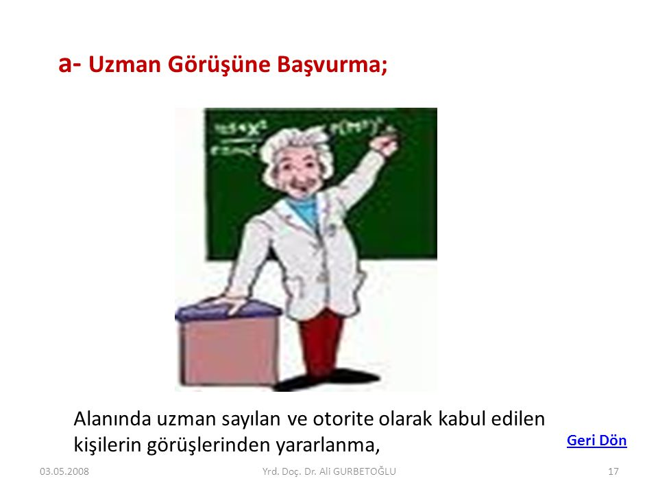 Yrd. Doç. Dr. Ali GURBETOĞLU