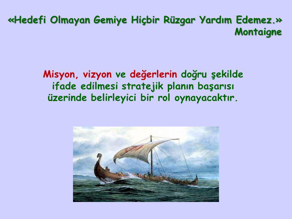 «Hedefi Olmayan Gemiye Hiçbir Rüzgar Yardım Edemez.» Montaigne