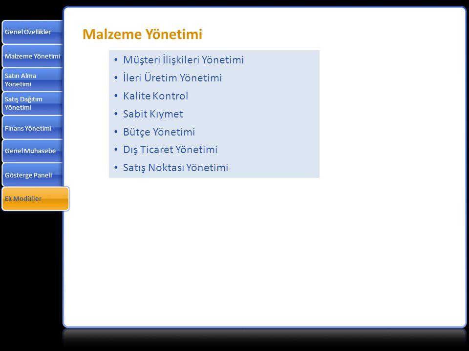 Malzeme Yönetimi Müşteri İlişkileri Yönetimi İleri Üretim Yönetimi