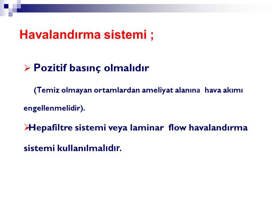 Havalandırma sistemi ;
