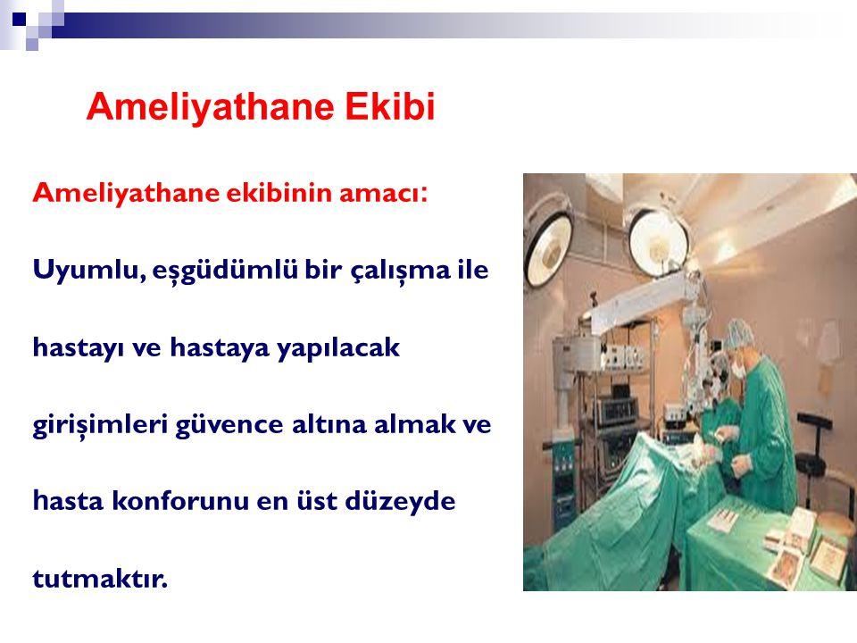 Ameliyathane Ekibi Ameliyathane ekibinin amacı: