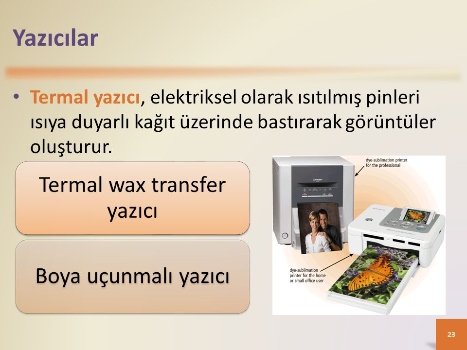 Termal wax transfer yazıcı