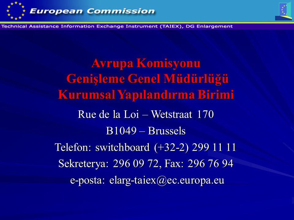 Avrupa Komisyonu Genişleme Genel Müdürlüğü Kurumsal Yapılandırma Birimi