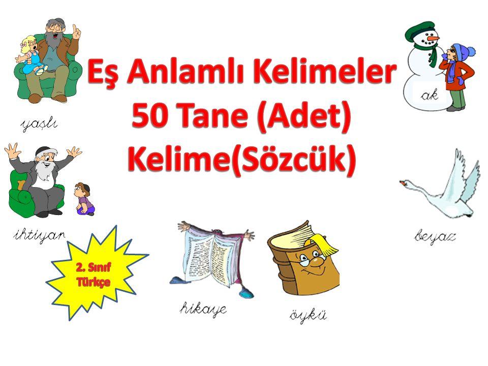 50 Tane (Adet) Kelime(Sözcük)