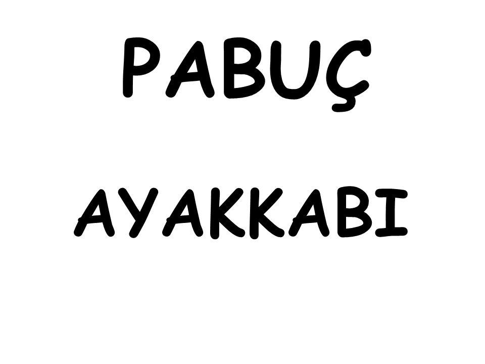 PABUÇ AYAKKABI