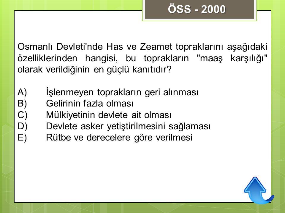 ÖSS - 2000