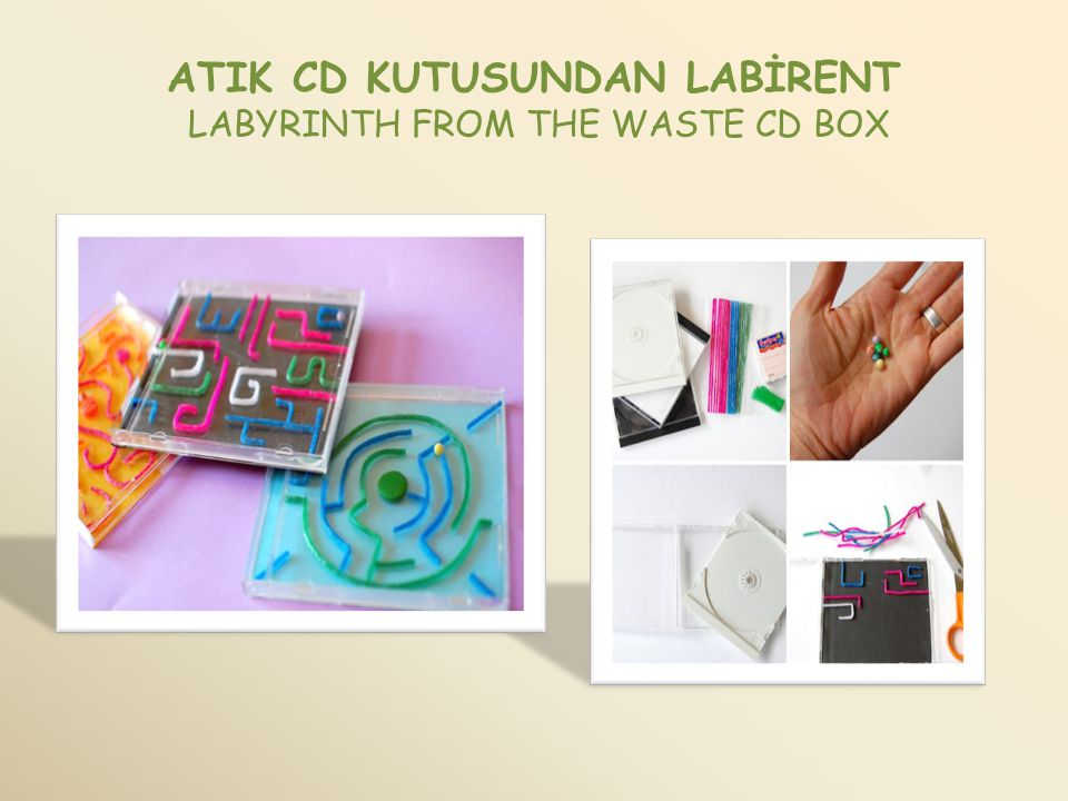 ATIK CD KUTUSUNDAN LABİRENT LABYRINTH FROM THE WASTE CD BOX