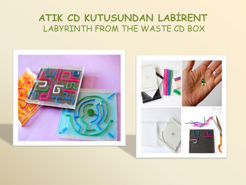 ATIK CD KUTUSUNDAN LABİRENT LABYRINTH FROM THE WASTE CD BOX