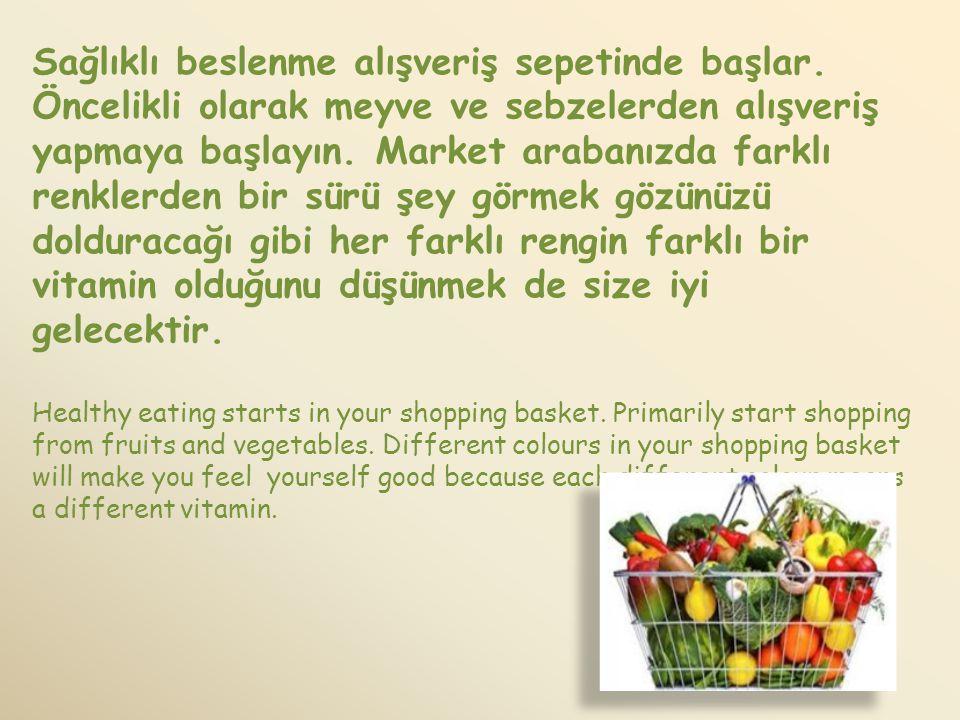 Sağlıklı beslenme alışveriş sepetinde başlar