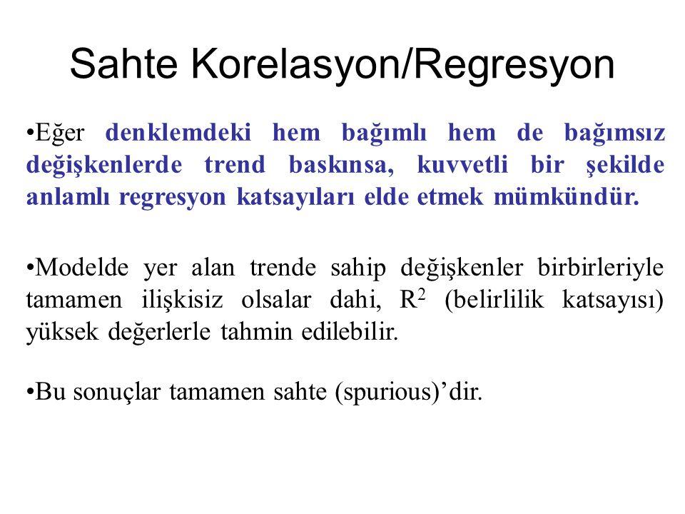 Sahte Korelasyon/Regresyon