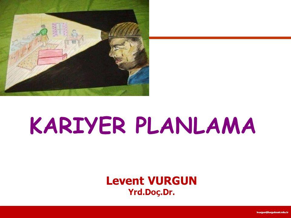 KARIYER PLANLAMA Levent VURGUN Yrd.Doç.Dr.