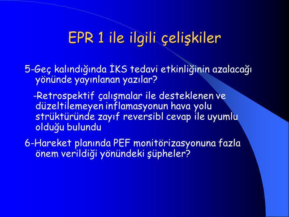 EPR 1 ile ilgili çelişkiler