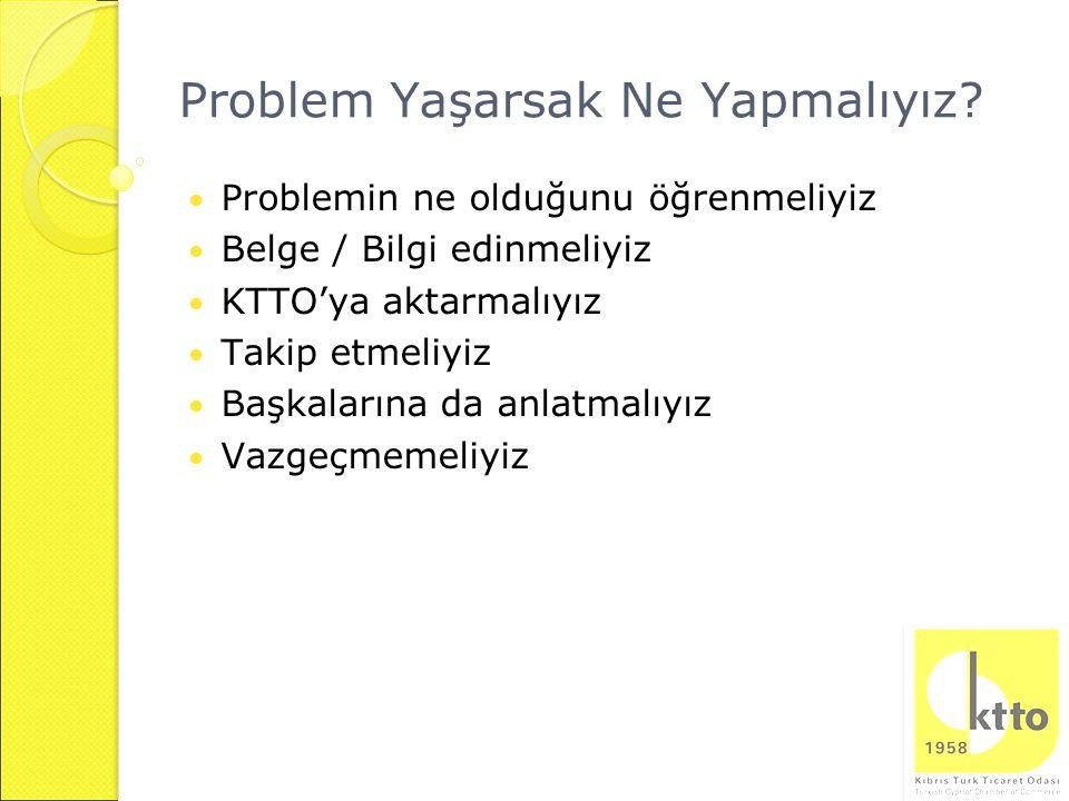 Problem Yaşarsak Ne Yapmalıyız