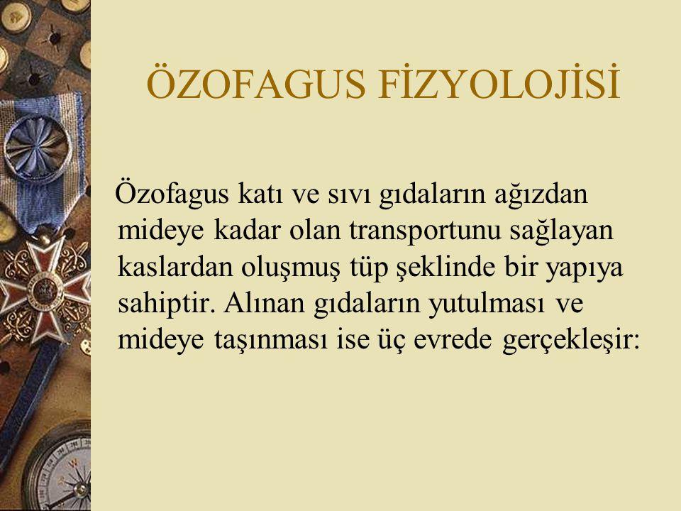 ÖZOFAGUS FİZYOLOJİSİ