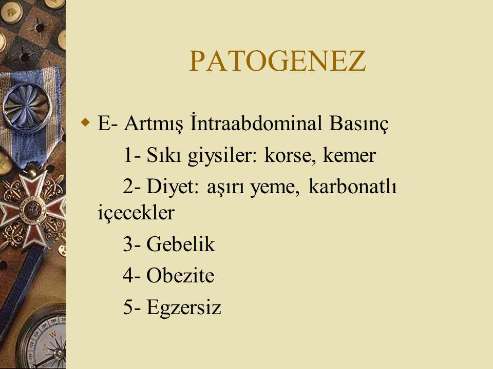 PATOGENEZ E- Artmış İntraabdominal Basınç