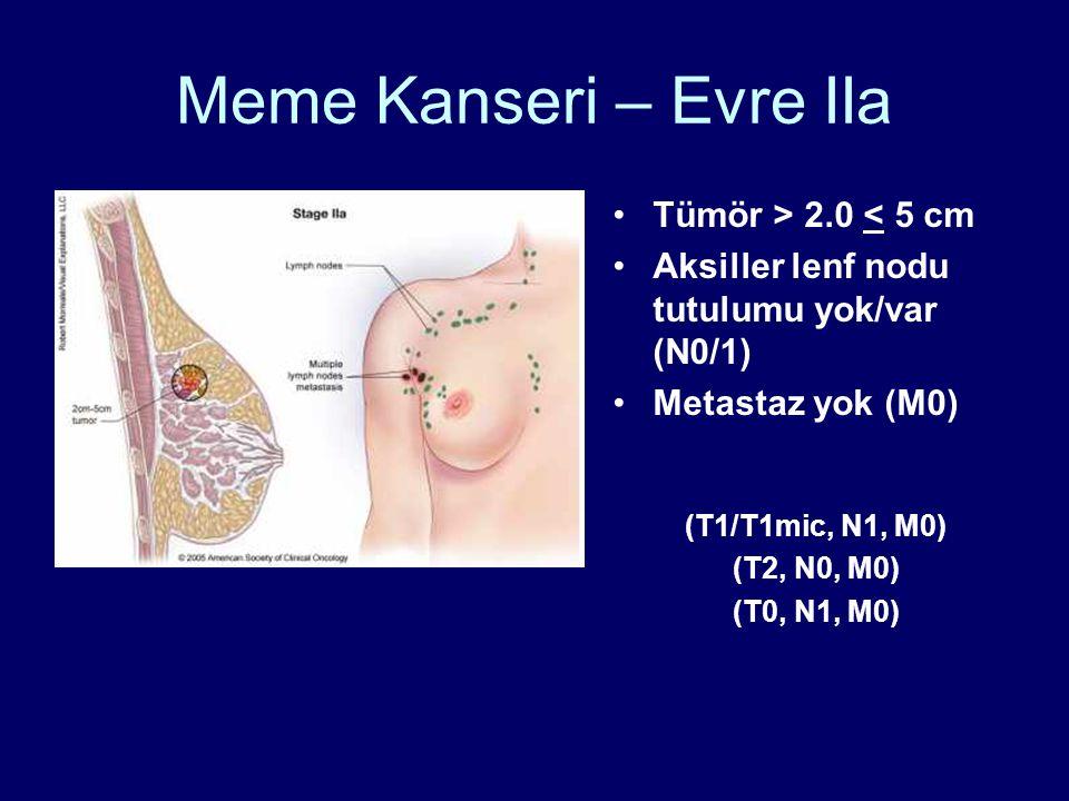 Meme Kanseri – Evre IIa Tümör > 2.0 < 5 cm
