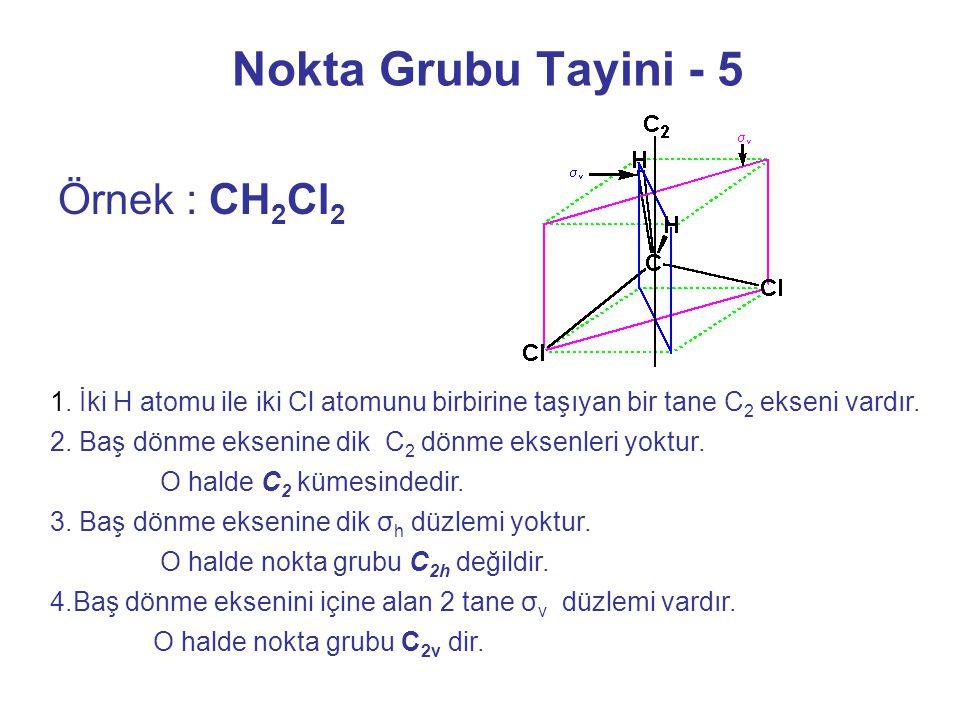 Nokta Grubu Tayini - 5 Örnek : CH2Cl2