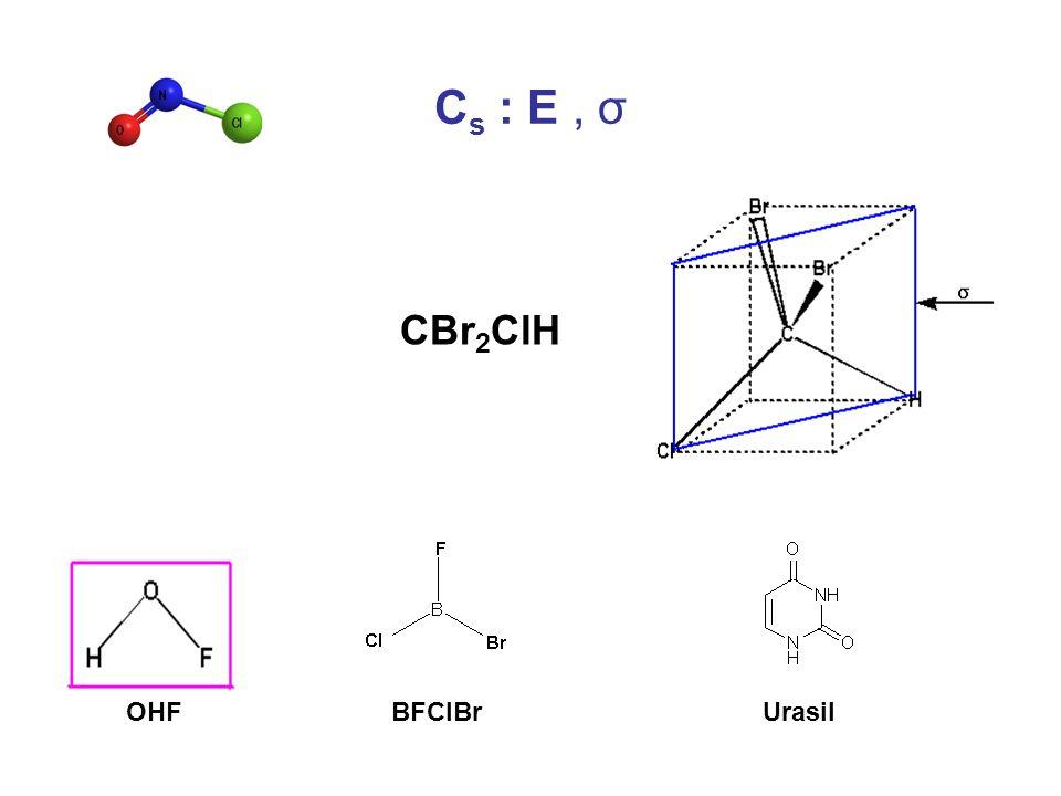 Cs : E , σ CBr2ClH OHF BFClBr Urasil