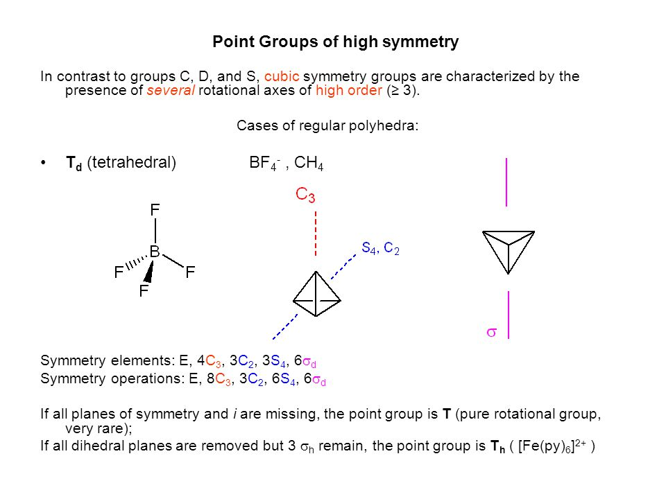 Cases of regular polyhedra: