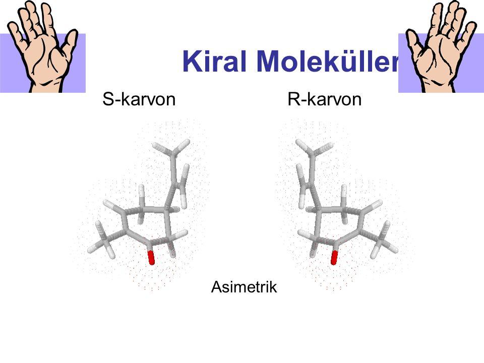 Kiral Moleküller S-karvon R-karvon Asimetrik
