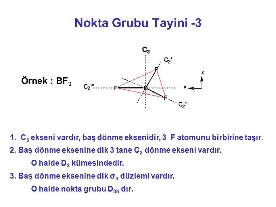 Nokta Grubu Tayini -3 Örnek : BF3