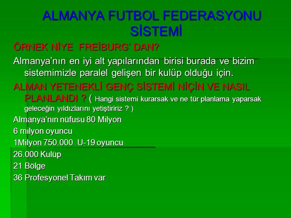 ALMANYA FUTBOL FEDERASYONU SİSTEMİ