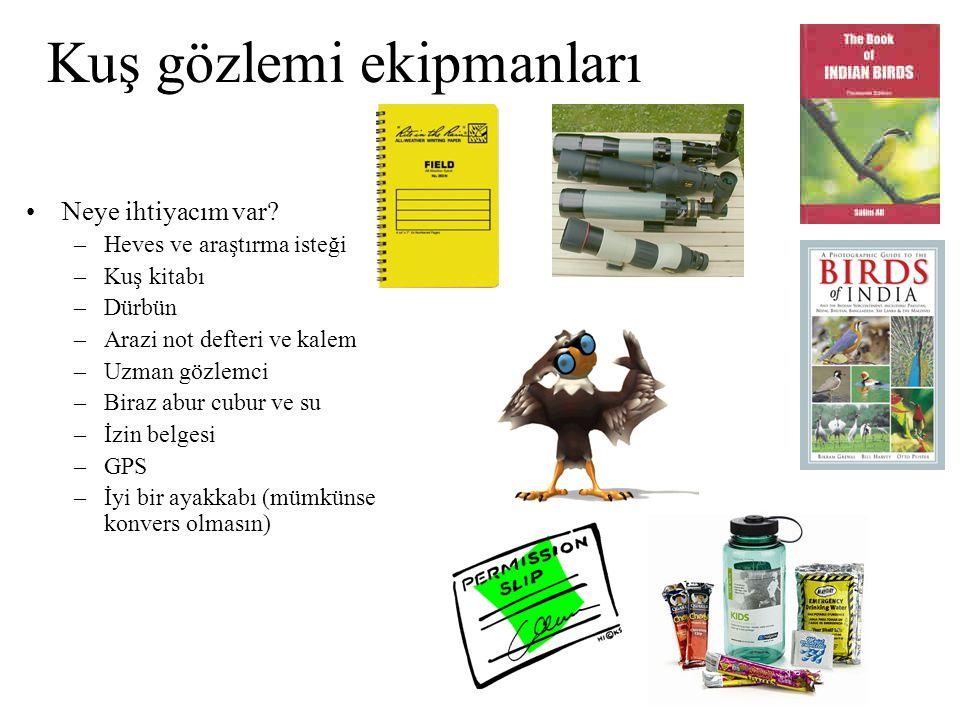 Kuş gözlemi ekipmanları