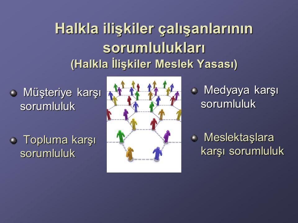 Halkla ilişkiler çalışanlarının sorumlulukları (Halkla İlişkiler Meslek Yasası)