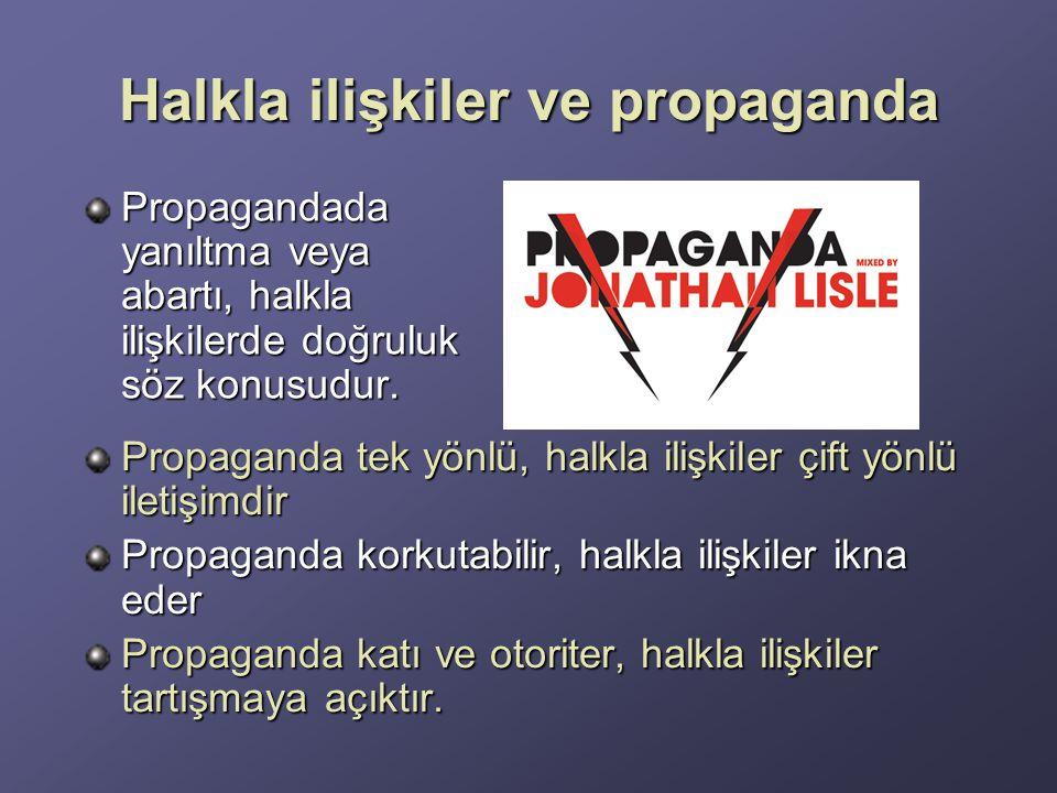 Halkla ilişkiler ve propaganda