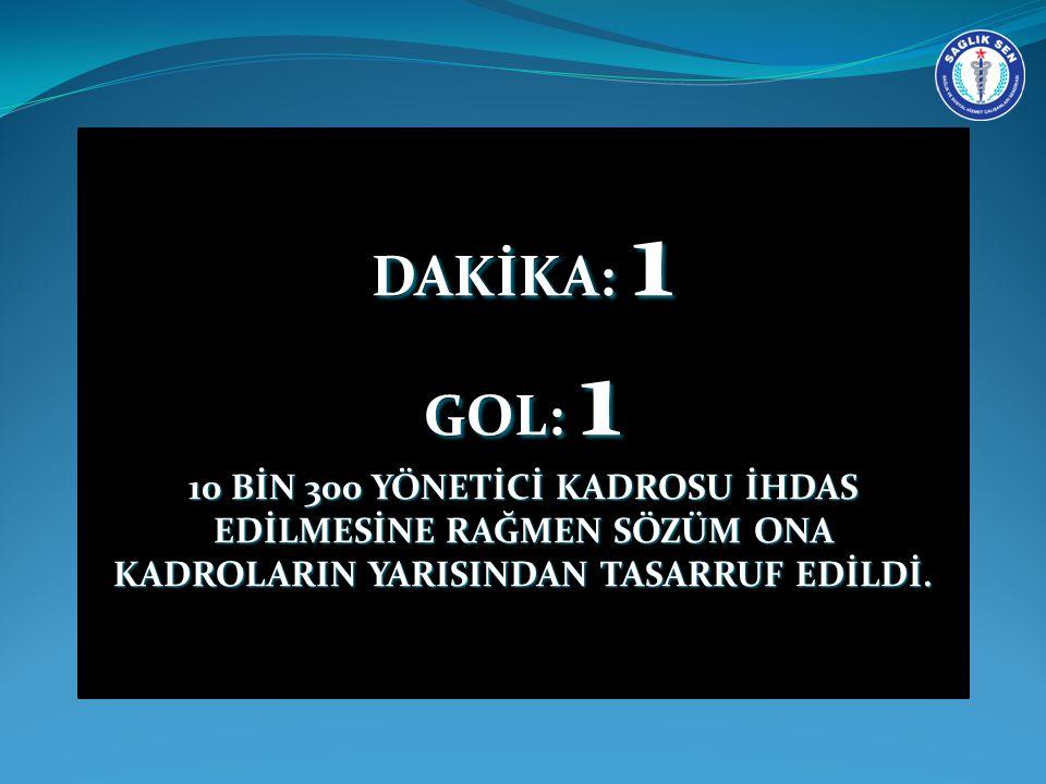 DAKİKA: 1 GOL: 1.