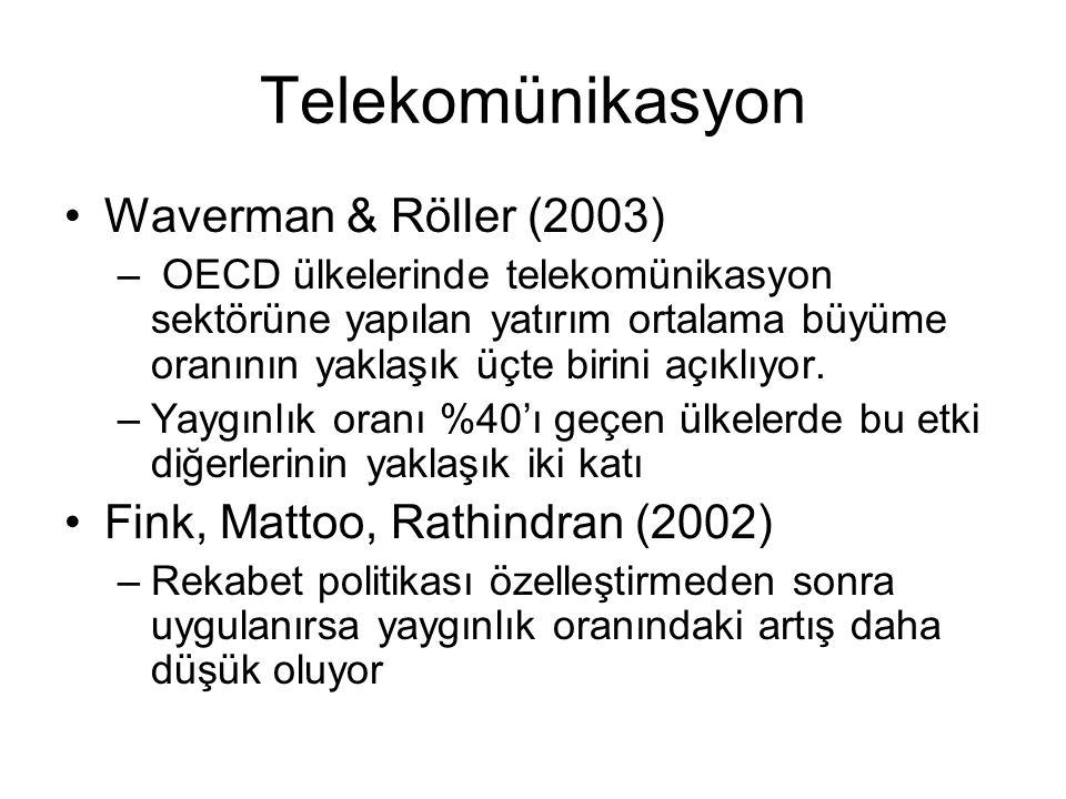 Telekomünikasyon Waverman & Röller (2003)