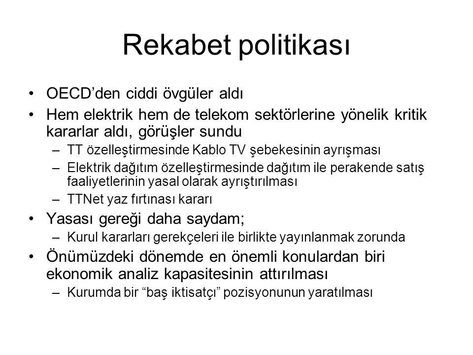 Rekabet politikası OECD'den ciddi övgüler aldı