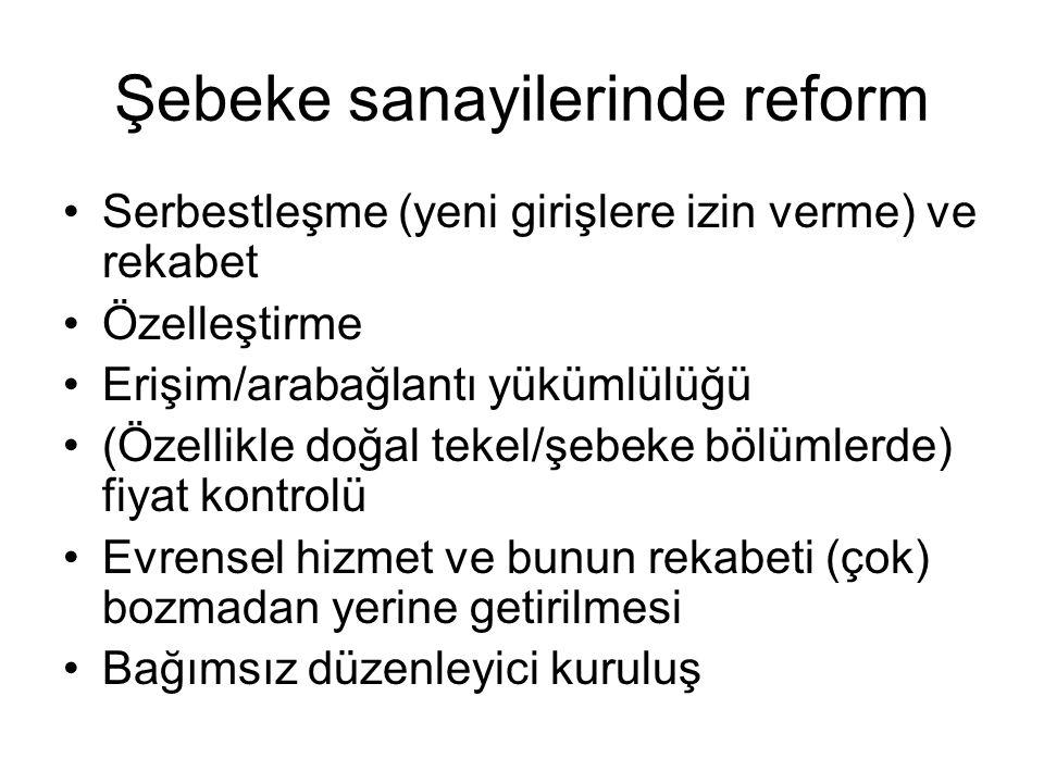 Şebeke sanayilerinde reform
