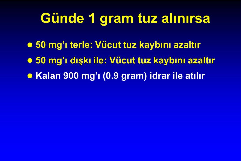 Günde 1 gram tuz alınırsa