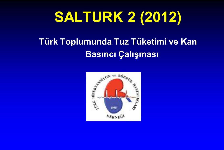 Türk Toplumunda Tuz Tüketimi ve Kan Basıncı Çalışması