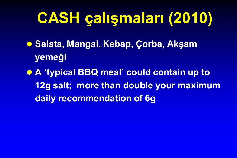 CASH çalışmaları (2010) Salata, Mangal, Kebap, Çorba, Akşam yemeği
