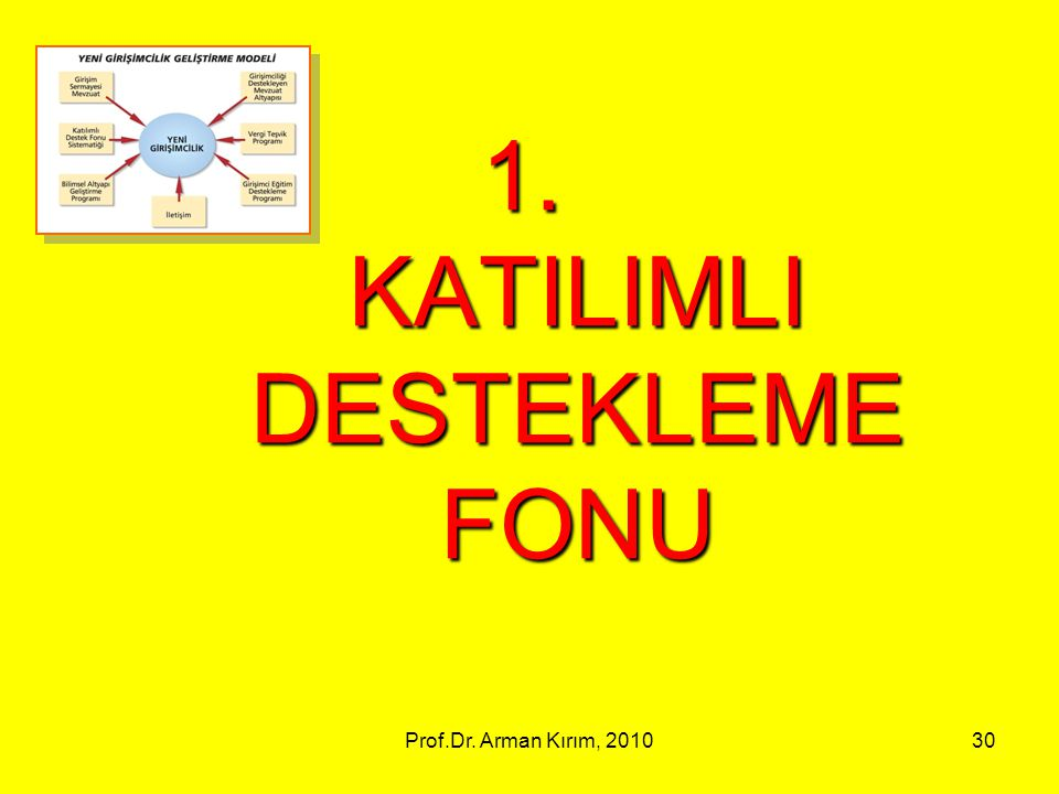 KATILIMLI DESTEKLEME FONU