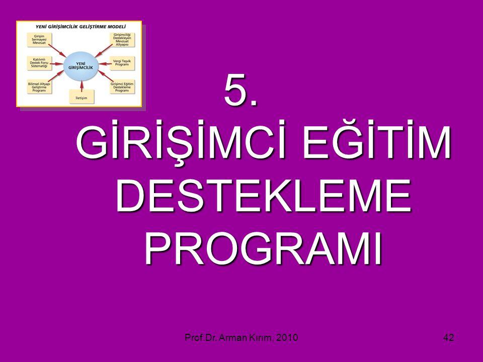 5. GİRİŞİMCİ EĞİTİM DESTEKLEME PROGRAMI