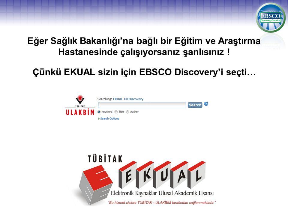 Çünkü EKUAL sizin için EBSCO Discovery'i seçti…
