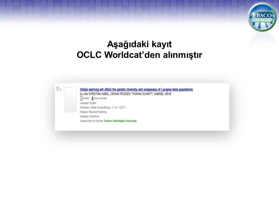 Aşağıdaki kayıt OCLC Worldcat'den alınmıştır