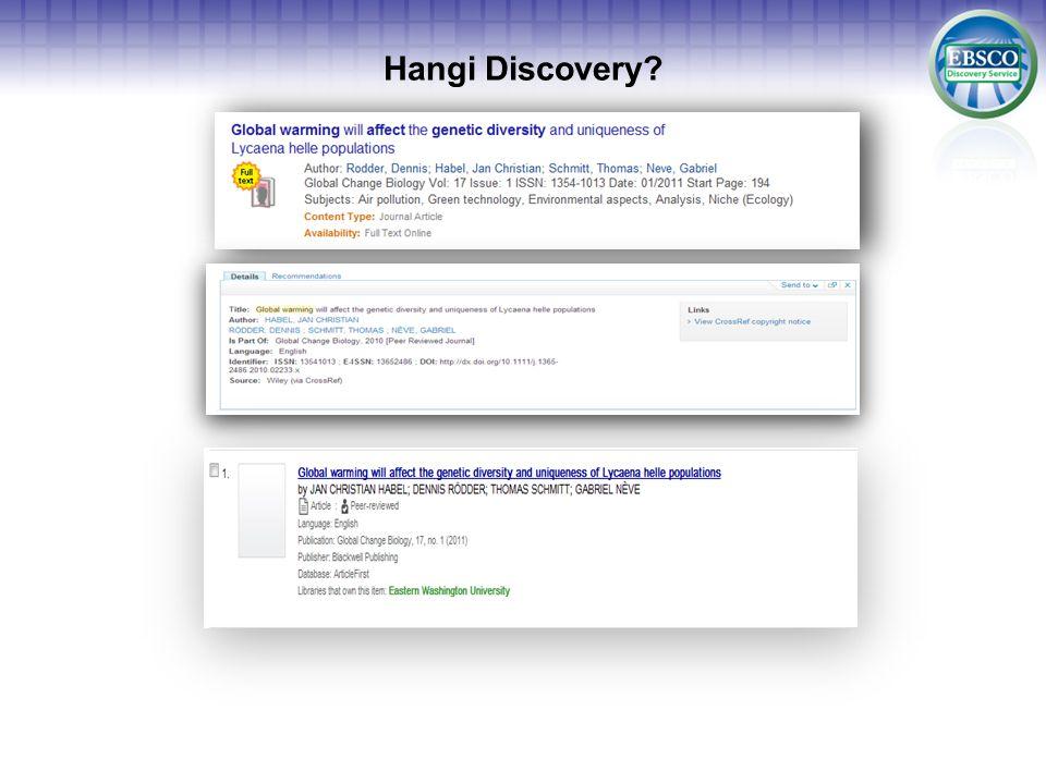 Hangi Discovery