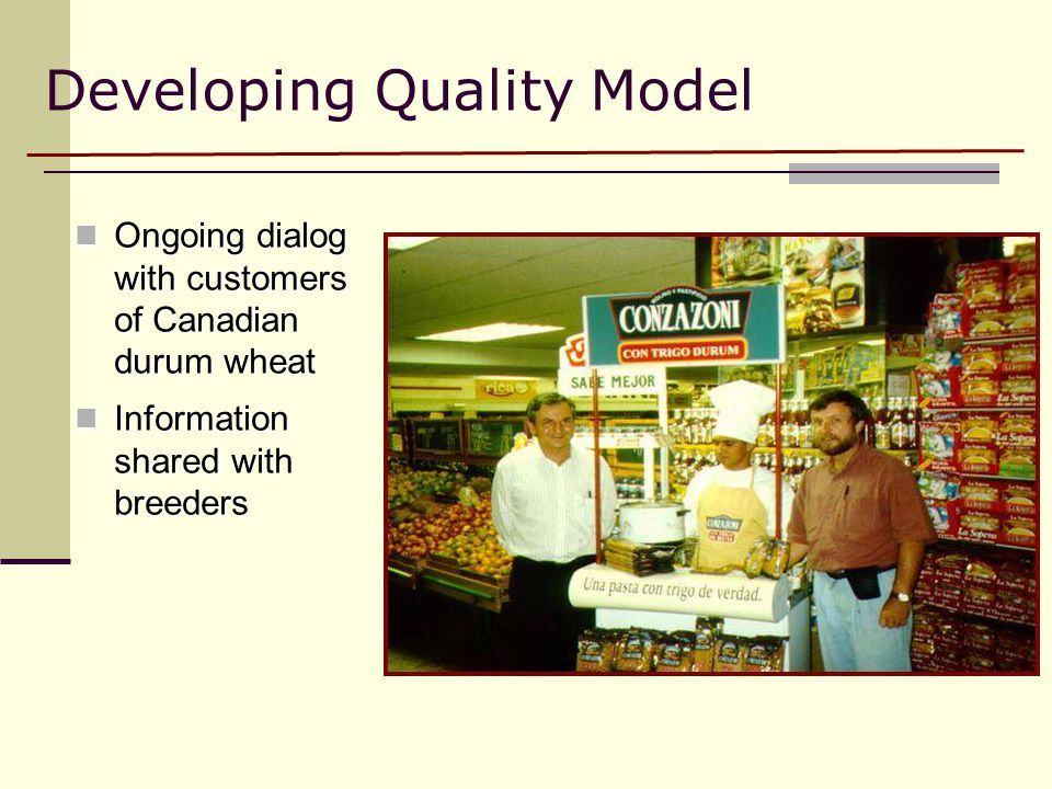 Developing Quality Model