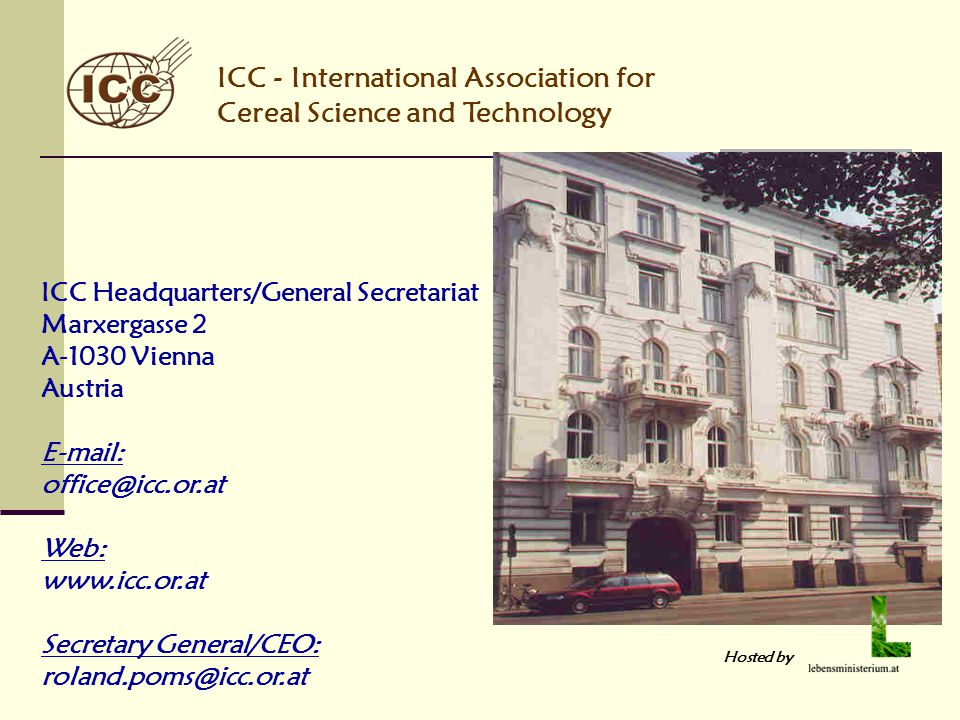ICC - International Association for Cereal Science and Technology