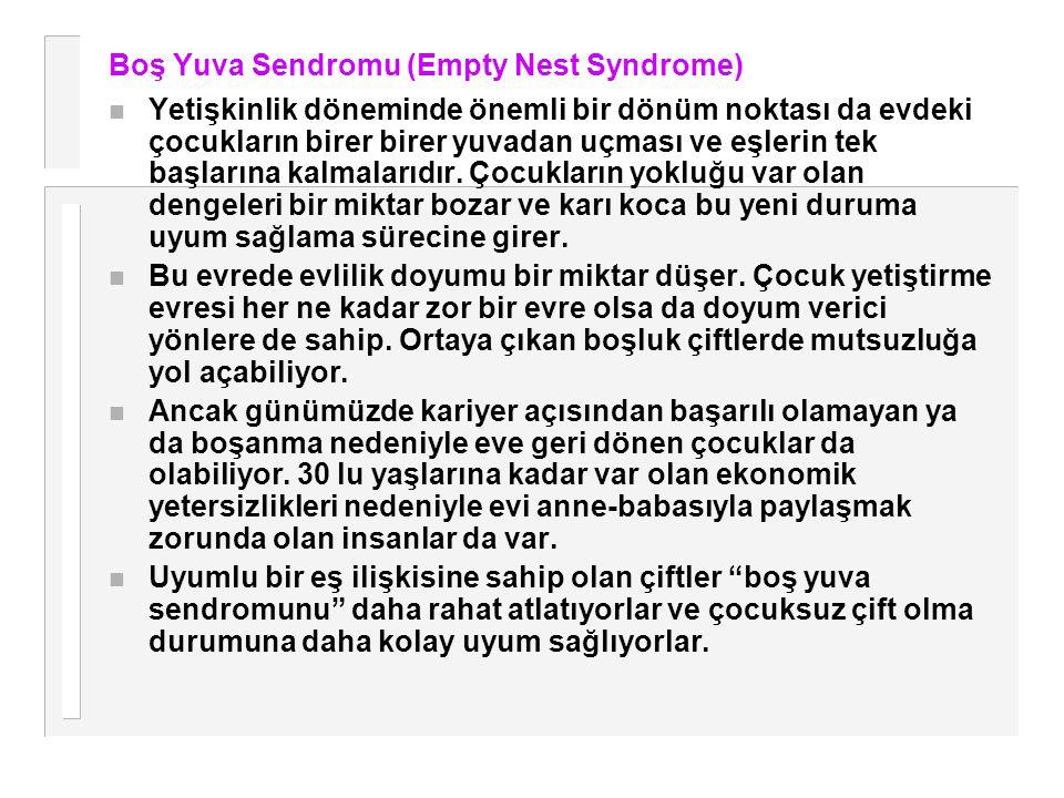 Boş Yuva Sendromu (Empty Nest Syndrome)