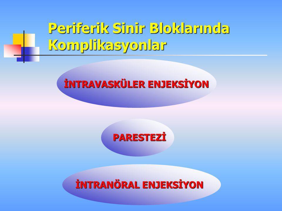 Periferik Sinir Bloklarında Komplikasyonlar