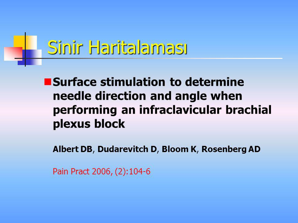 Sinir Haritalaması Surface stimulation to determine needle direction and angle when performing an infraclavicular brachial plexus block.